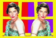 1956 Movies Mixed Media Prints - Ava Gardner in Bhowani Junction Print by Art Cinema Gallery