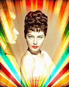 Statue Portrait Mixed Media Prints - Ava Gardner in One Touch of Venus Print by Art Cinema Gallery