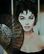Movie Star Paintings - Ava Gardner by Shirl Theis