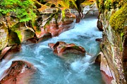 West Glacier Photos - Avalanche Creek by Adam Jewell