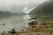 Avalanche Glacier National Park Print by Jeff  Swan