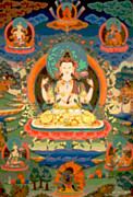 Incarnation Prints - Avalokitesvara Print by Marcy Gold