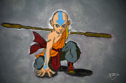 Avatar Paintings - Avatar Aang - Airbender by Apoorv Jain