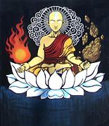 Avatar Aang Buddha Pose Print by Jin Kai