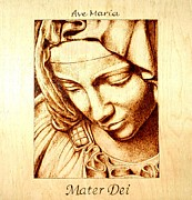 Mother Mary Pyrography - Ave Maria by Cara Jordan