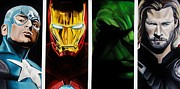 Hulk Painting Framed Prints - Avengers Framed Print by Brian Broadway