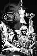 Avengers Metal Prints - Avengers Ultimates Metal Print by Ken Branch