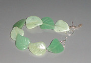Featured Jewelry - Aventurine and Prehnite Leaves Bracelet by Robin Copper