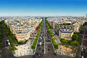 Elysees Prints - Avenue des Champs Elysees in Paris France Print by Michal Bednarek