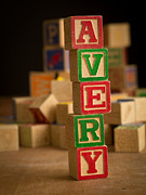 Alphabet Metal Prints - AVERY - Alphabet Blocks Metal Print by Edward Fielding