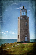 New England Lighthouses Prints - Avery Point Lighthouse Print by Joan Carroll