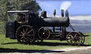 Greyhound Photos - Avery Sawmill Special Vintage Steam Engine by F Leblanc