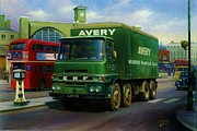 1950s Truck Painting Framed Prints - Averys ERF LV Framed Print by Mike  Jeffries