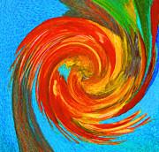 Avian Swirl 3 Print by Margaret Saheed