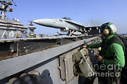 Featured Art - Aviation Boatswains Mate Launches An by Stocktrek Images