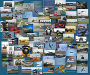 Passenger Plane Metal Prints - Aviation Collage Metal Print by Thomas Woolworth