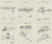 Technical Art Drawings Prints - Aviation Patent Collection Print by PatentsAsArt