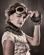 Steampunk Art - Aviator II by David April