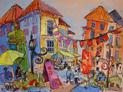 French Street Scene Art - Avignon Holiday by Dorothy Fagan