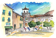 Town Square Drawings Prints - Avila 04 Print by Miki De Goodaboom