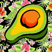 Avocado Digital Art Posters - Avocado Mango Salsa Poster by James Temple