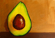 Yellow And Brown Posters - Avocado Palta VI Poster by Patricia Awapara