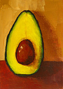 Interior Still Life Paintings - Avocado Palta VII by Patricia Awapara