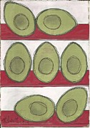 Avocados Prints - Avocados Print by P J Lewis
