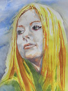 Teen Painting Originals - Avril Lavigne by Chrisann Ellis