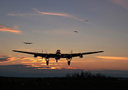 Lancaster Posters - Avro Lancaster - Dawn Return Poster by Pat Speirs
