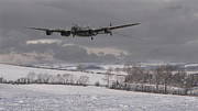 Classic Aircraft Digital Art - Avro Lancaster - Limping Home by Pat Speirs