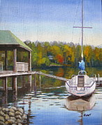 Lake Wylie Prints - Awaiting Spring Print by Shirley Braithwaite Hunt