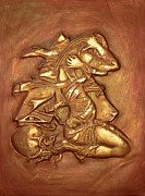 Design Reliefs Metal Prints - Awakening Metal Print by Assem Omar