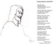 Smiling Jesus Art - Awakening Divine Self Worth sketch of Jesus 2 by Dawna Morton