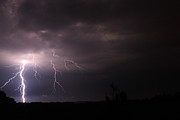 Lightning Storms Metal Prints - Awe Metal Print by Reid Callaway