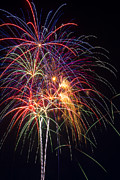 Pyrotechnics Metal Prints - Awesome fireworks Metal Print by Garry Gay