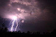 Lightning Storms Metal Prints - Awesome Strike Metal Print by Reid Callaway