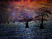 Waterscape Digital Art Digital Art - Awesome Sunrise by J Larry Walker