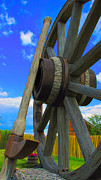 Wheel Photo Originals - Axe and Wheel by Garry Staranchuk