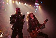 Guns N Roses Metal Prints - Axl Rose and Slash Metal Print by Rich Fuscia