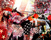 Axl Rose Painting Prints - Axl Rose Original Print by Ryan Rabbass
