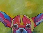 Chihuahua Colorful Art Prints - Aye Chihuahua Print by Patti Schermerhorn