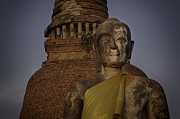 Buddhism Photos - Ayuthaya close up by David Longstreath