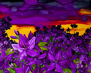 Azalea Bush Paintings - Azalea Dawn by Wendy Wilkins