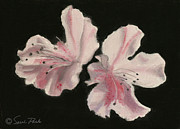Interior Still Life Painting Metal Prints - Azaleas Metal Print by Sarah Parks