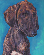 Dog Art Paintings - Azawakh pup by Lee Ann Shepard