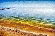 Azov Paintings - Azov sea painting by Magomed Magomedagaev