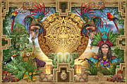 Aztec Mayhem Montage Print by Ciro Marchetti