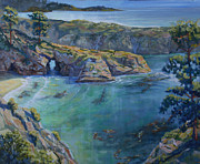 Azure Cove Print by Heather Coen
