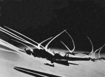 Ww Ii Prints - B 17 Contrails Print by Unknown